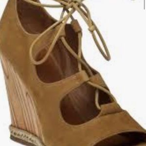 Tory Burch Raya lace up wedge